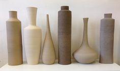 Ceramic vases ,clay,electric firing Ingrid Debard Ceramic
