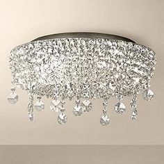 Close To Ceiling Lights Awesome Enna Small Draped Crystal Ceiling Light #pendantlight #crystal Design Decoration