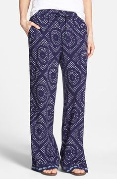 Women's Sanctuary 'Cafe' Print Wide Leg Pants
