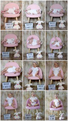 New Baby Photos, Monthly Baby Photos, Newborn Baby Photos, Baby Girl Newborn, Baby Pictures, Monthly Pictures, 6 Month Baby Picture Ideas, Newborn Baby Photography, Baby Milestones