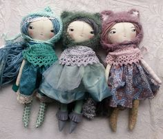 More friends ♥♥♥♥ #humbletoys #clothdoll #etsy #handmadedoll #handmade #clothdollartist #doll #dollmaker #humblejoydoll