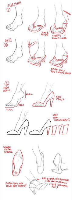 Manga Drawing Tips Feet, shoes, text; How to Draw Manga/Anime by candace Drawing Skills, Drawing Techniques, Drawing Tips, Drawing Sketches, Art Drawings, Sketching Tips, Sketchbook Drawings, Horse Drawings, Art Reference Poses