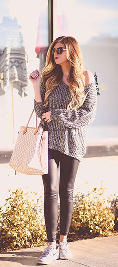 Grey Long Sleeve Loose Sweater