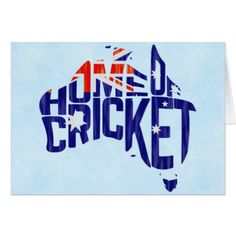 #template - #Australia Home of Cricket Map Greeting Card