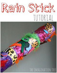 DIY rainstick tutorial- make an instrument that sounds just like falling rain!