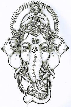 ganesha lotus drawing - Google Search                                                                                                                                                      More