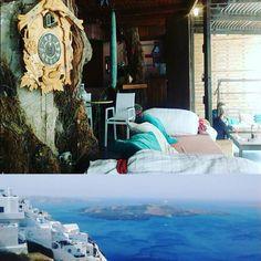 #28- the magic bus at Perissa and the Fira view - #perissa #magicplace #magicbus #dakos #placetobe #greecefood #thira #santorini #greece #perissabeach #grecia #sun #volcano #santoriniview #isla #viaje #travel #traveler #travelingram #instatravel #instaplace #theplacetobe #viaje #backpacking #mochileando #instadaily #instamood by carolinagcolmenares