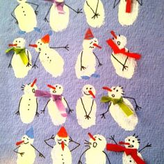 snowmen fingerprints. cute