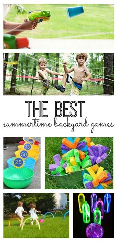 The best summertime backyard games, crafts and activities for your kids! #20 is such a great idea! (Fun for a party too!)