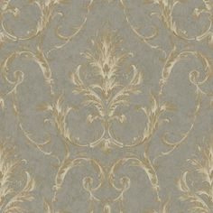 York Wallcoverings Saint Augustine Neoclassical x Damask Embossed Wallpaper Color: Stormy Gray Graphic Wallpaper, Embossed Wallpaper, Damask Wallpaper, Purple Wallpaper, Wallpaper Roll, Designer Wallpaper, Beautiful Wallpaper, Pretty Wallpapers, Victorian Wallpaper