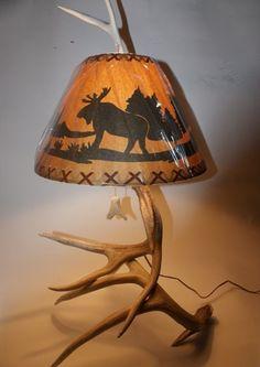 Items similar to Whitetail Deer antler lamp on Etsy 1dc54243fda9