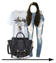 """""""Stussy."""" by prvncessbeautifulmee ❤ liked on Polyvore featuring NIKE and Bee Charming"""
