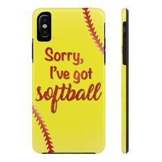 Entschuldigung, ich habe Softball-Handyhülle - Phone case for girls Softball Workouts, Softball Memes, Softball Cheers, Softball Crafts, Softball Pitching, Softball Shirts, Softball Players, Fastpitch Softball, Softball Stuff