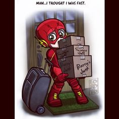 """Lordmesa Art — """"Boxed Out""""  ⚡️⚡️⚡️  @grantgust @cwtheflash..."""