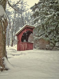 Covered Wishing Well In Winter