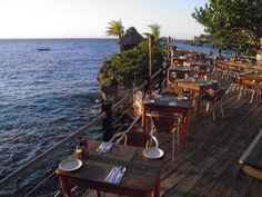 Enjoy seaside dining plus front row seats to witness Negril's famous sunsets at Push Cart restaurant in Negril.