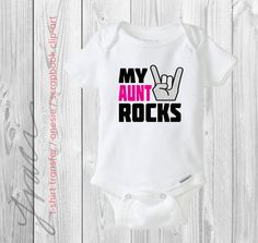 "INSTANT DOWNLOAD - ""my aunt rocks"" - Printable Iron on T-Shirt Transfer  / Scrapbook Clip-Art / Design on Etsy, $4.00"