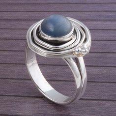 925 STERLING SILVER ANTIQUE LADIS KYANITE RING 5.16g DJR3377 #Handmade #Ring