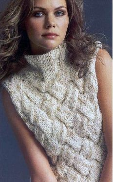 A lovely hand-knitted jacket (pattern and knitting scheme included).