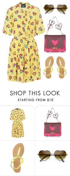 """i heart"" by im-karla-with-a-k ❤ liked on Polyvore featuring Boutique Moschino, Anya Hindmarch and Charlotte Russe"