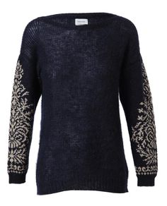 Mohair-wool sweater with brocade sleeves by MIHARAYASUHIRO at Browns Fashion for £520.00