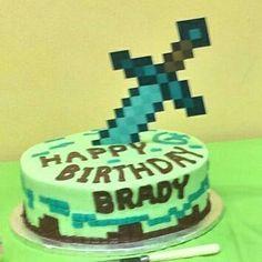 Minecraft sword cake topper minecraft sword cake by PaperedAffair
