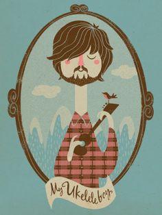 Las camisa de cuadros va genial con un banjo! ^_^!