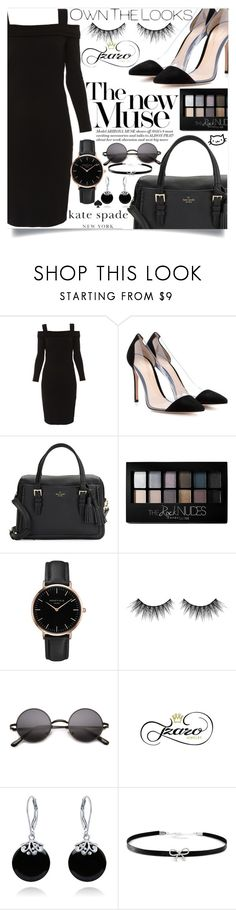 """""""Stiletto Heels"""" by loloksage ❤ liked on Polyvore featuring Elie Tahari, Gianvito Rossi, Kate Spade, Maybelline, Topshop, Huda Beauty, Bling Jewelry and Giani Bernini"""