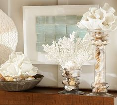 See how to make this fast and fabulous 10 minute decor idea for your home! DIY Faux Coral inspired by Pottery Barn! See the supply list and styling tips. Beach Cottage Style, Beach Cottage Decor, Coastal Cottage, Coastal Style, Coastal Decor, Diy Home Decor, Room Decor, Beach Decor Bathroom, Beachy Bathroom Ideas