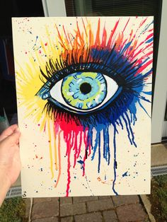 Eye.. Artist: Emily Folino Medium: Spray paint