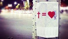 Cruz es igual Amor.