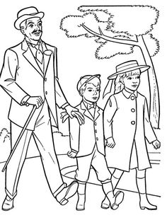 10 best coloriage mary poppins images on Pinterest   Coloring books ...