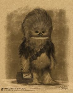 This is pure awesomeness. Looks like my brother when he was little. True Story. #Chewbacca #Star_Wars #cool
