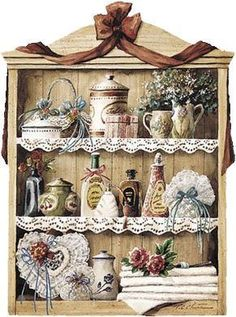 Home sweet home Wood Crafts, Paper Crafts, Atc Cards, Tea Art, Country Art, Decoupage Paper, Kitchen Art, Country Kitchen, Vintage Ephemera