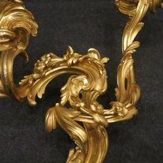 Paire d'appliques en bronze doré époque Louis XV, Laurent Chalvignac, Proantic