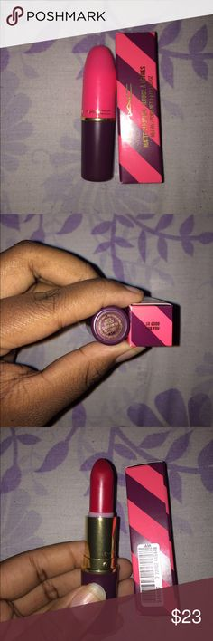 Mac So Good For You Lipstick Limited Edition, 2016 Nutcracker Sweet Holiday Collection. Never worn, swatched on hand and I didn't like the color as much as I thought I would. Described as an intense cool red, in a matte finish. MAC Cosmetics Makeup Lipstick