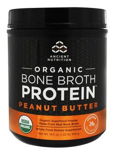 Peanut Butter Brands, Organic Peanut Butter, Peanut Butter Protein, Bone Broth Protein Powder, Whole Food Recipes, Snack Recipes, Chicken Protein, Organic Chicken, Sports Nutrition