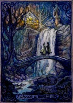 immortality sacrificed for love. Arwen and Aragorn. Rivendell by Soni Alcorn-Hender.