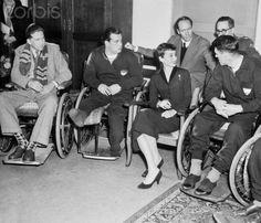 Audrey Hepburn and Mel Ferrer visiting war veterans in the Netherlands (1954)