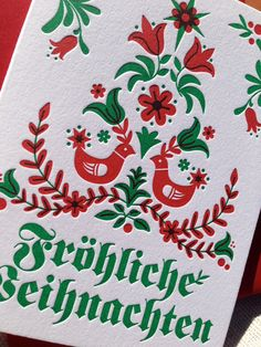 43 best german christmas cards images on pinterest german 6 pack german merry christmas letterpressed cards m4hsunfo