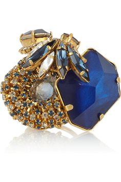 A little bling anyone?? Erickson Beamon Envy Oversized Swarovski crystal ring NET-A-PORTER.COM