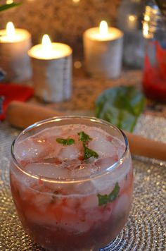 Holiday Cocktails - Cranberry Basil Ole Recipe