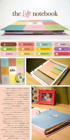 The Life Notebook by KellyBangsCreative on Etsy.  I would like it for my important papers and info