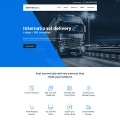 Delivery Services Responsive Website Theme
