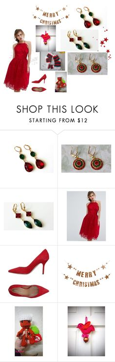 """""""Christmas"""" by artistinjewelry ❤ liked on Polyvore featuring Chi Chi, Dsquared2 and Bloomingville"""