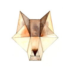 Geometric Animals - Wolf Print