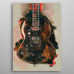 Tony Iommi Electric Guitar Pop Art Poster Print | metal posters - Displate