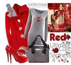 """INDRESSME.COM - ""RED"""" by fantasiegirl ❤ liked on Polyvore"