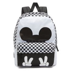 Shop Disney x Vans Checkerboard Mickey Realm Backpack today at Vans. The  official Vans online store. 89014d40054