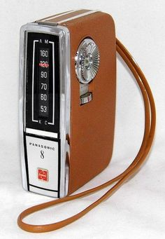 Vintage Panasonic 8 Gadabout transistor radio, model R-1326, AM band only, made in Japan, circa 1965.